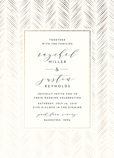 wedding invitations - elegant herringbone by Carolyn Nicks