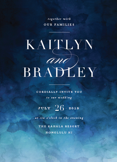 wedding invitations - Indigo Sea by Kelly Schmidt