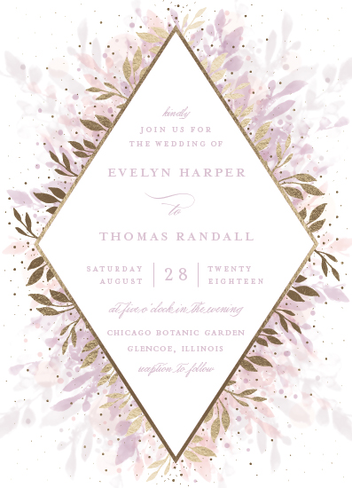 wedding invitations - botanical bokeh by Angela Marzuki