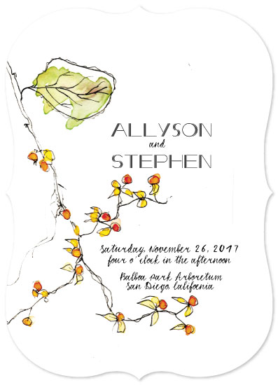 wedding invitations - BITTERSWEET Branch by jeanne smith