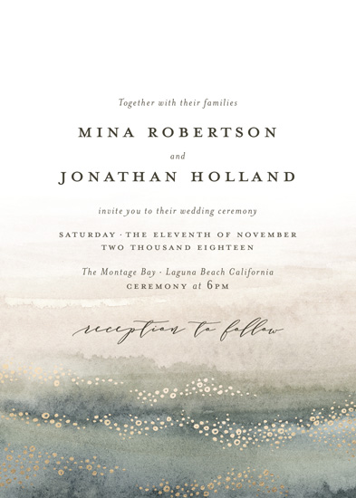 wedding invitations - Oceans by Wildfield Paper Co.