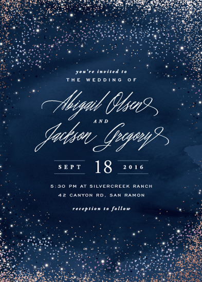wedding invitations - Sparkling Night Sky by Hooray Creative