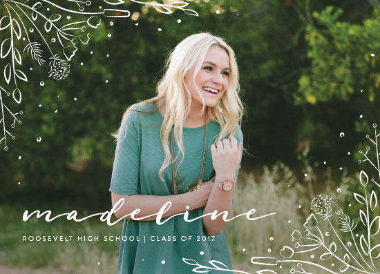 graduation announcements - Wildflower by Amy Payne