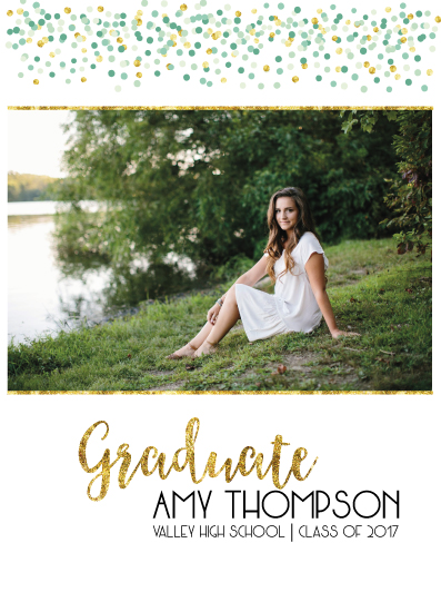 graduation announcements - Confetti Grad by Lara Briffa