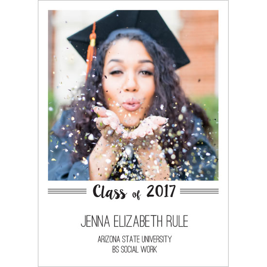 graduation announcements - The Classy Grad by MaKell Webb