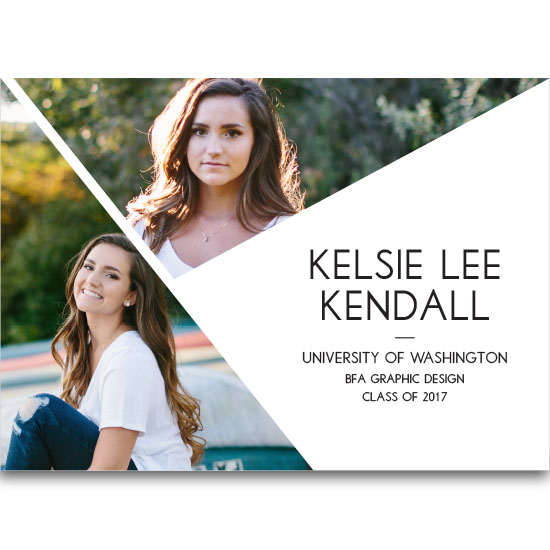 graduation announcements - Refined Graduate by MaKell Webb