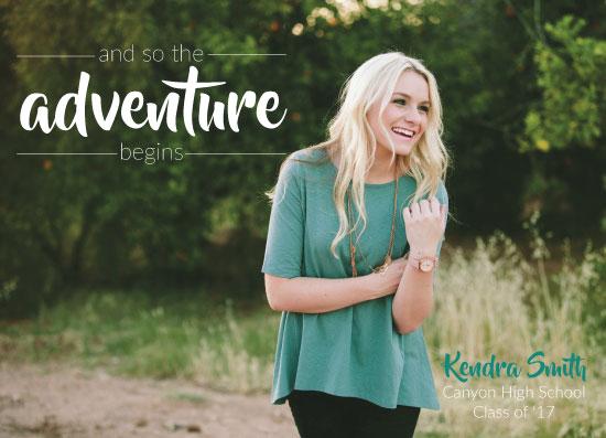 graduation announcements - Begin Your Adventure by Landan Rivers