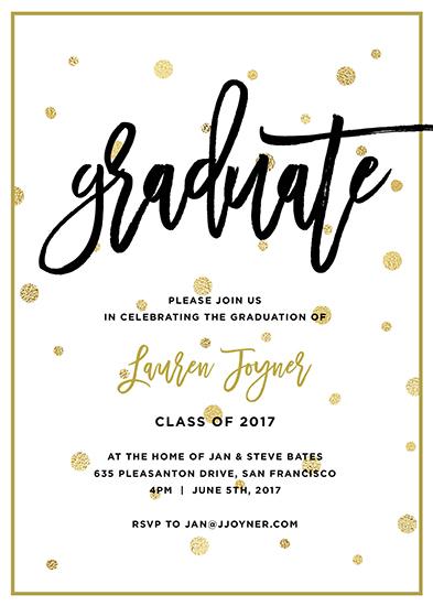 graduation announcements - Confetti Graduation Party Invitation by Lauren Hampton