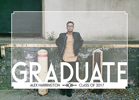graduation announcements - white graduation by DiRed