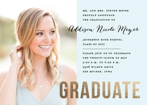 graduation announcements - Pastel Elegance by Andrea Castek