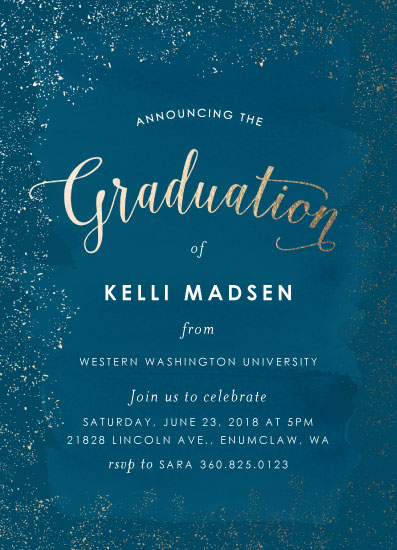 graduation announcements - Golden Graduation by Itsy Belle Studio