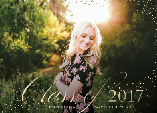 graduation announcements - elegant grad by Erin Deegan