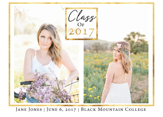 graduation announcements - Gold Border Announcement by Lara Briffa
