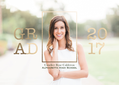 graduation announcements - Grads are Golden by Taniya Varshney