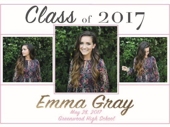 graduation announcements - Emma by Ashley Gillis