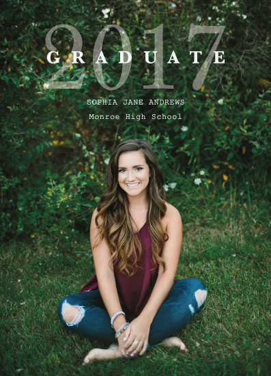 graduation announcements - Simple and Chic by Estefanie Tawoy