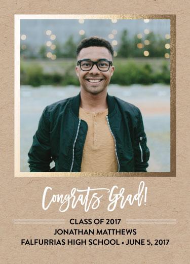 graduation announcements - Framed Simplicity by Estefanie Tawoy