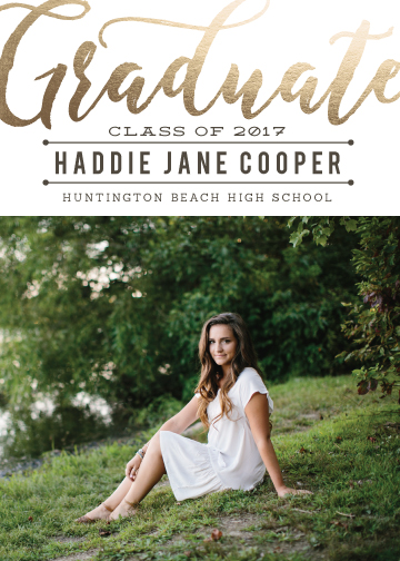 graduation announcements - Golden Graduate by SunnyJuly