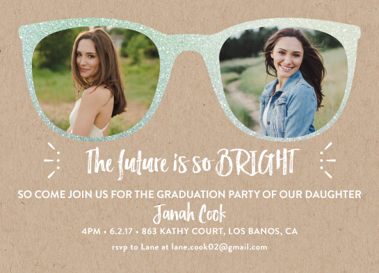 graduation announcements - Future So Bright by Estefanie Tawoy