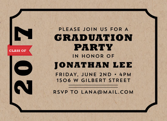 graduation announcements - The Grad Label by Estefanie Tawoy