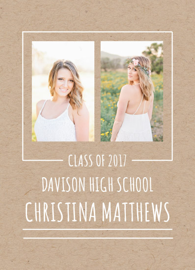 graduation announcements - Simple Kraft by The Paper Proposal