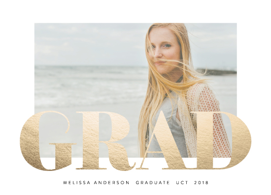graduation announcements - Bold and Grad by Phrosne Ras