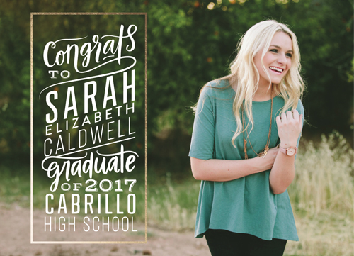 graduation announcements - Type Block by alisa brainard