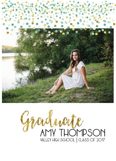 graduation announcements - Confetti Graduate by Lara Briffa