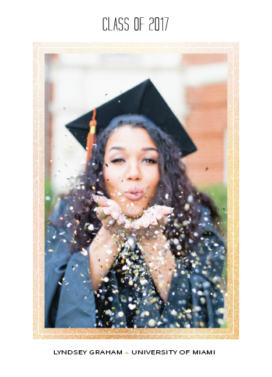 graduation announcements - Glittery Gold Grad by esther designs