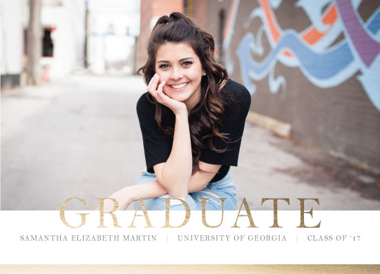 graduation announcements - Elegant Graduate by Landan Rivers