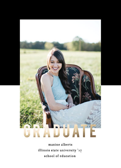 graduation announcements - Graduation Duotone by Baumbirdy
