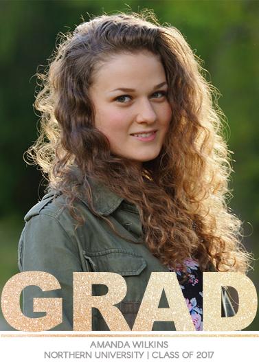 graduation announcements - Sparkle Big by C. Annie Design