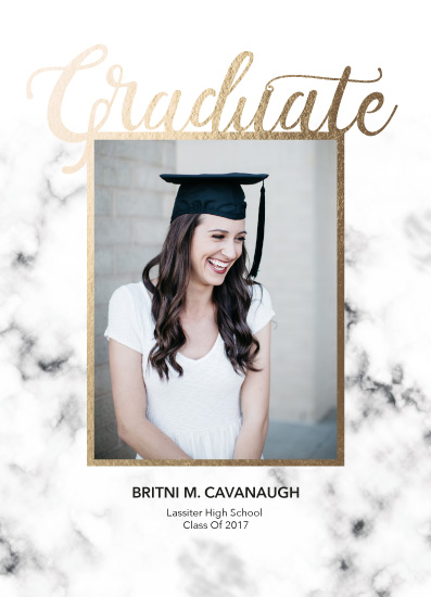 graduation announcements - Marble by Britni Cavanaugh