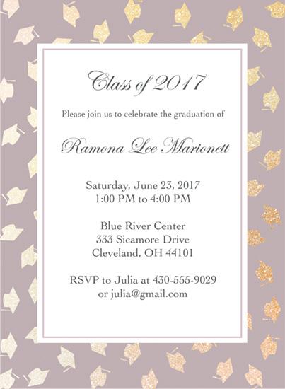 graduation announcements - Graduation Caps Invitation by Elizabeth Gehring