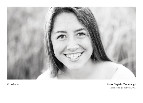 graduation announcements - Black White by Britni Cavanaugh