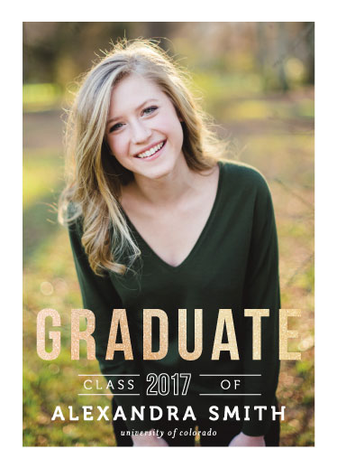 graduation announcements - autumn & glitter by Jay Anne