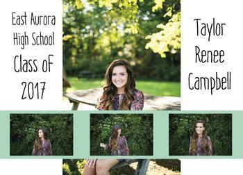 Photo Reel Graduation Announcement