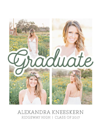 graduation announcements - Scripty Squares by Lauren Gerig