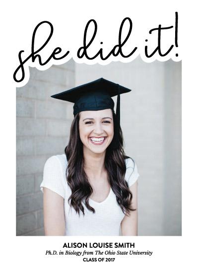 graduation announcements - Simple Script by Lauren Gerig