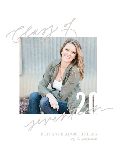 graduation announcements - Hand lettered Class of 2017 by Julia Mattox