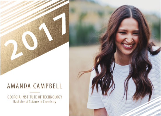 graduation announcements - Graduating Pinstripes by Megan Roe
