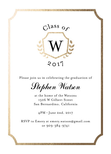 graduation announcements - Golden Laurels by Estefanie Tawoy