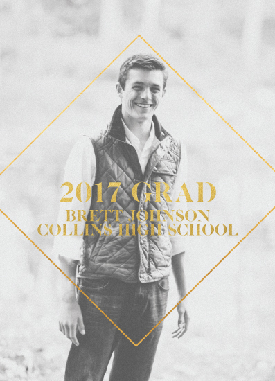 graduation announcements - Simply Grand Grad by Rachel Kovach