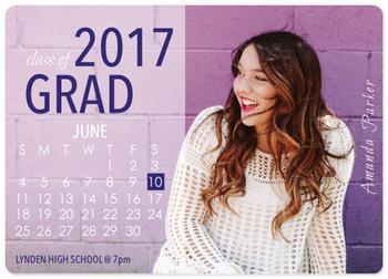 Calendar Grad Announcement