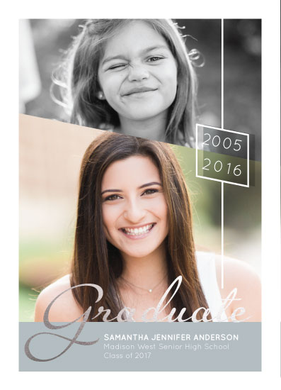 graduation announcements - Then and Now by Kimiyo Prints