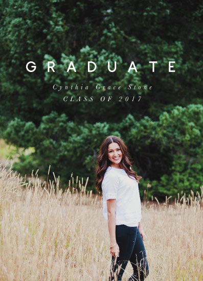 graduation announcements - Simple Grad by Still and Mundane
