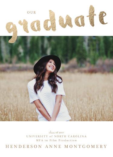 graduation announcements - golden sweet graduate by frances