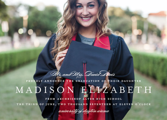 graduation announcements - Elegance by Jennifer Postorino