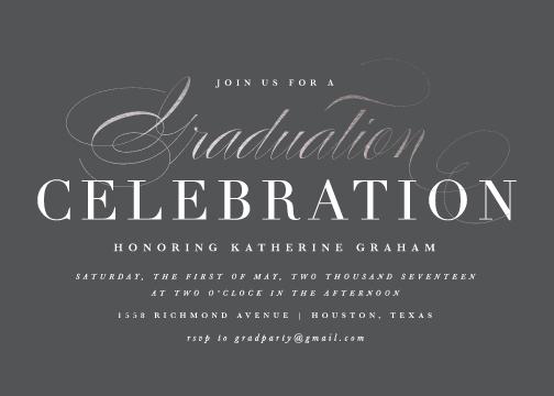 graduation announcements - Stylish Celebration by Lauren Chism