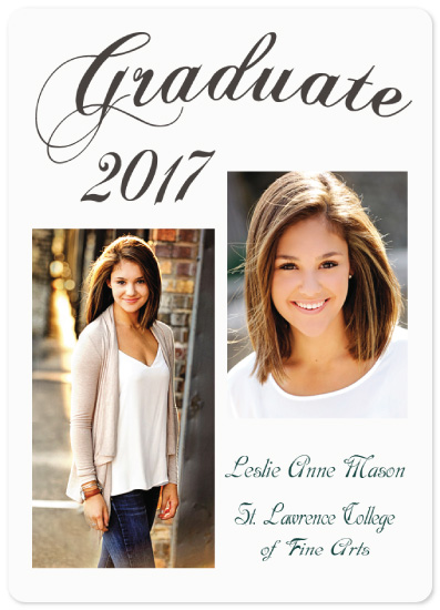 graduation announcements - Fine Arts Grad by A Maz Designs